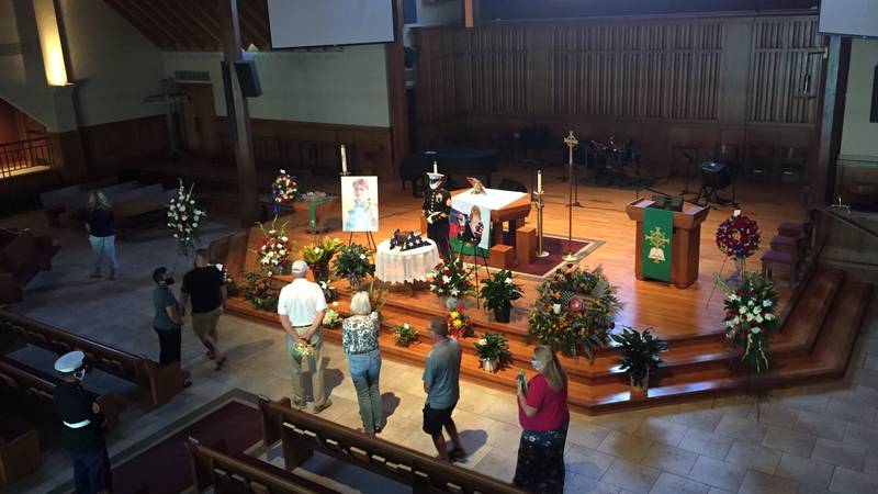 The community paid its respects to Cpl. Daegan Page during public visitation on Thursday...