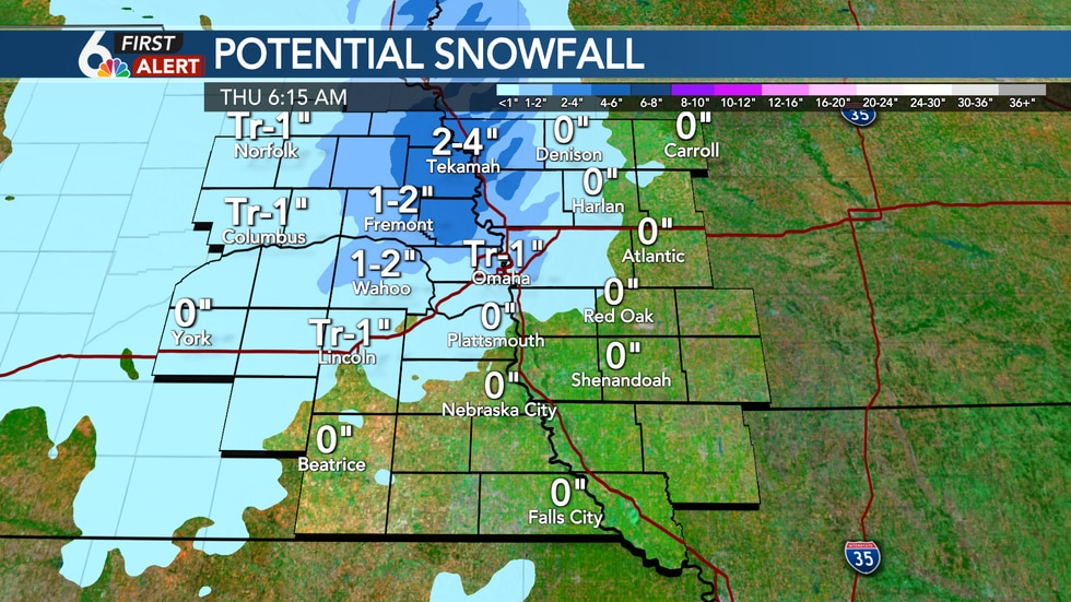 Wednesday Snow Potential