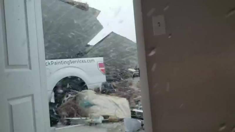 Brendan McCormick recorded video as the Derecho wind storm intensified in Cedar Rapids, IA. ...