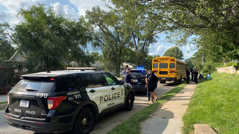 Frightened students on school bus