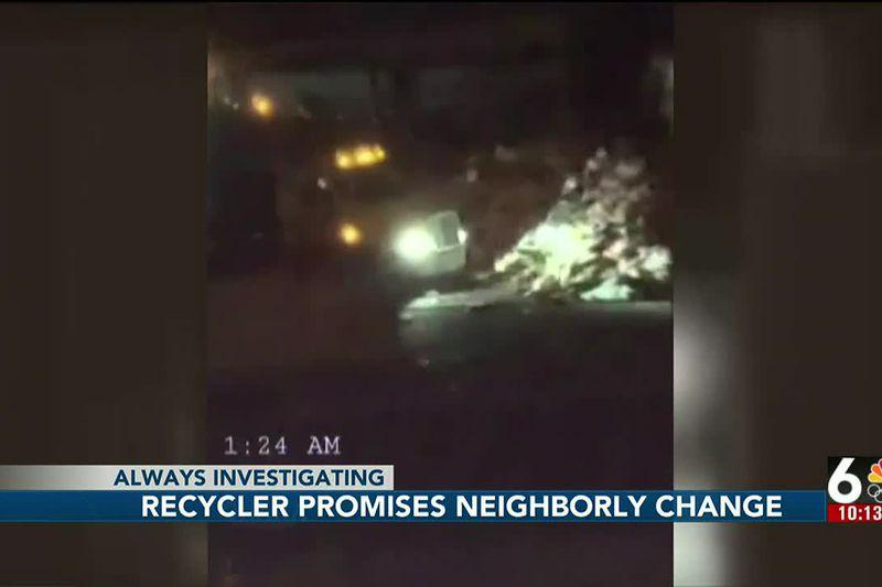 Recycler promises neighborly change