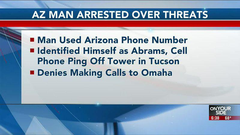 Arizona man arrested over Omaha threats