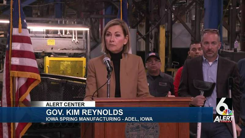Gov. Kim Reynolds in Adel, Iowa