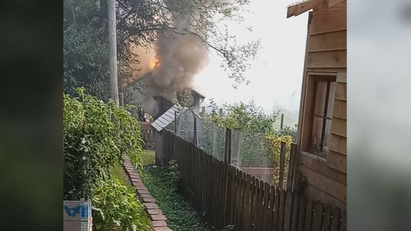 One man injured in fire on Binney Street, caused by some type of loud explosion, heard by...