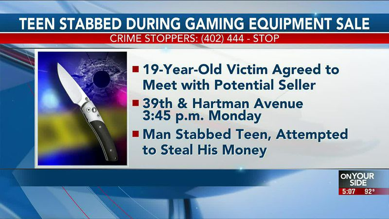 Teen stabbed during gaming equipment sale - 5 pm
