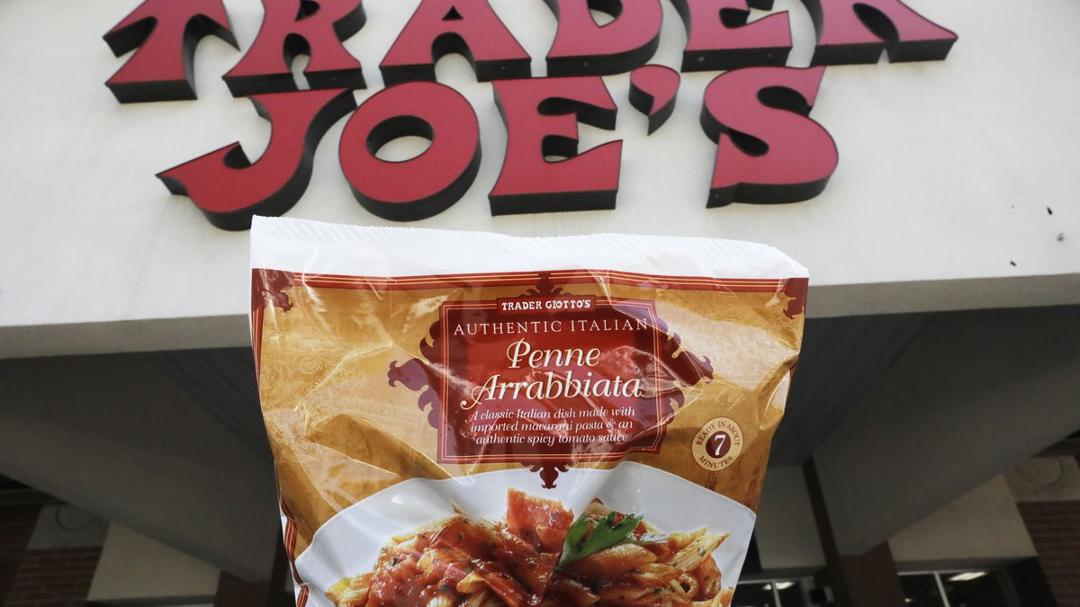 Trader Giotto's Penne Arrabbiata is shown in from of Trader Joe's Friday, July 31, 2020, in...