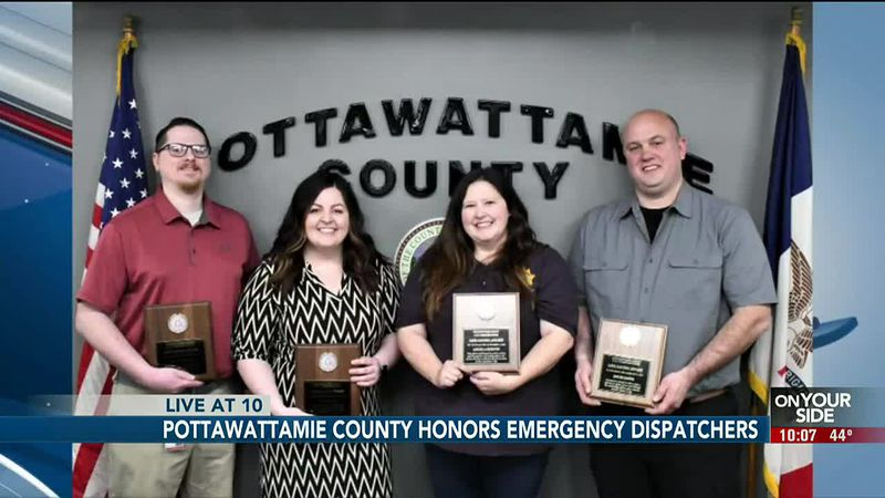 Pottawattamie County honors emergency dispatchers - 10 pm