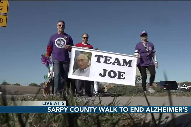 Around 300 people met at Prarie Queen Recreation Area for Sarpy County's Walk to end...