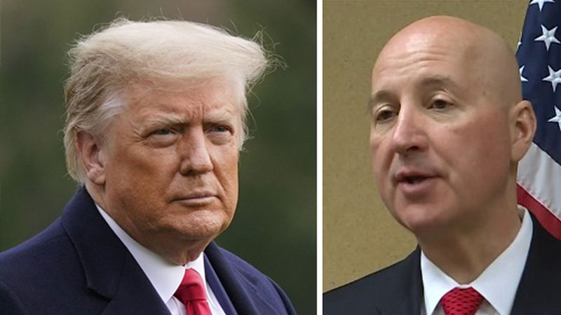 President Trump and Nebraska Gov. Pete Ricketts