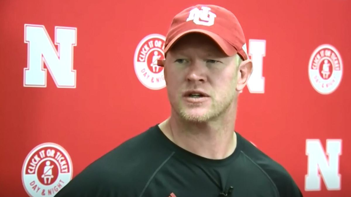 Huskers Football Head Coach Scott Frost talks to media following the team's practice on Friday, Aug. 16, 2019. (WOWT)
