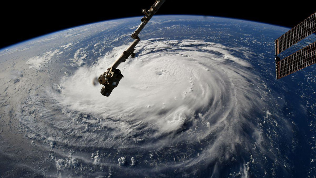 Astronaut on ISS snaps photos of Hurricane Florence spinning in the Atlantic Hurricane.