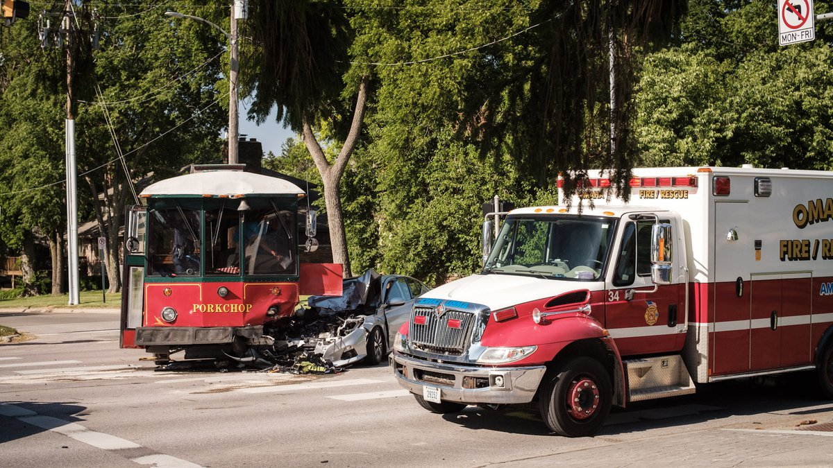 Porkchop, part of the Ollie the Trolley line, was involved in an accident Saturday, June 13,...