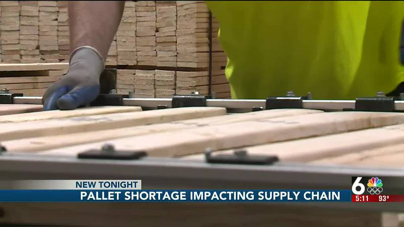 Grocery pallets in short supply in Omaha, and the company says it's not all COVID-19 related.