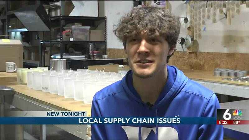 Omaha's Nic Bianchi owns his own candle company and is experiencing supply chain issues as...