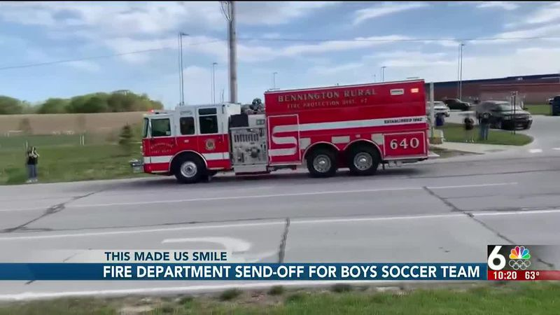 Fire Department send-off for boys soccer team - 10 pm