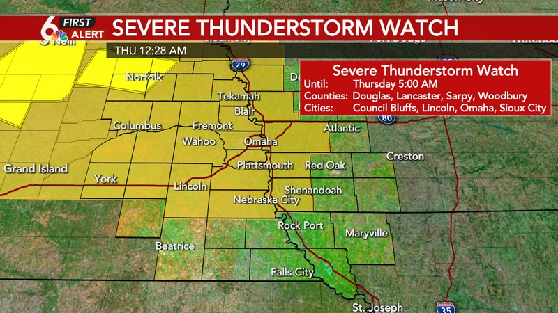 Severe Thunderstorm Watch in effect until 5am