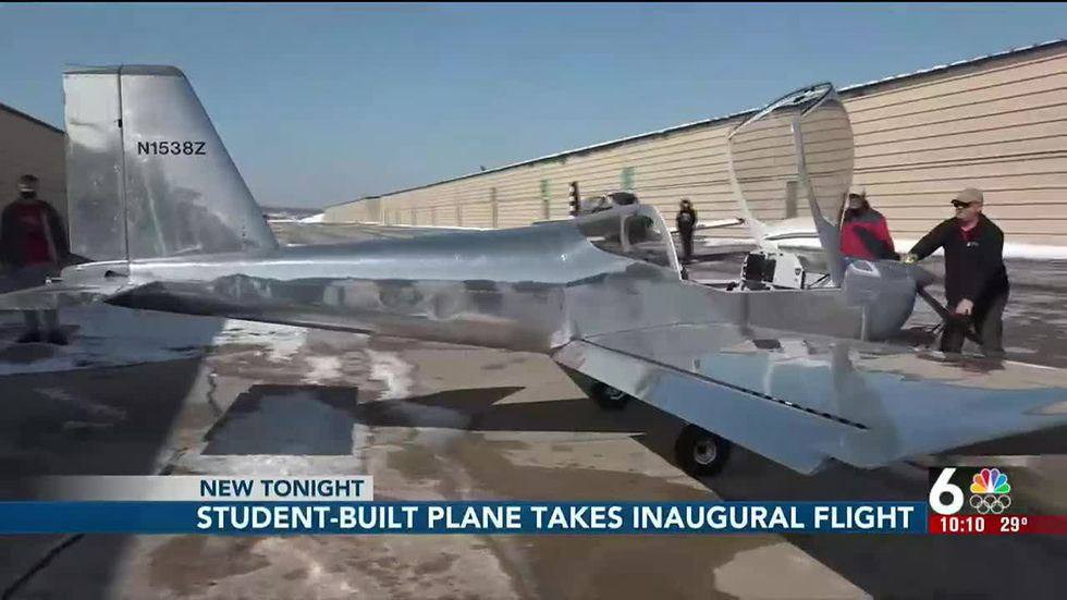 Student-built plane takes to the sky