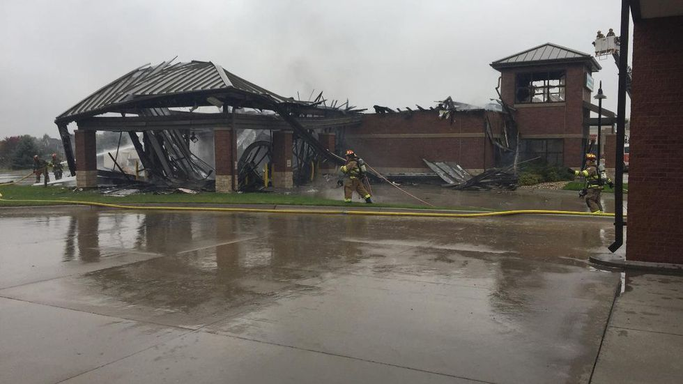 A dry-cleaning business near 168th and Harrison streets burned down in a large fire caused by...