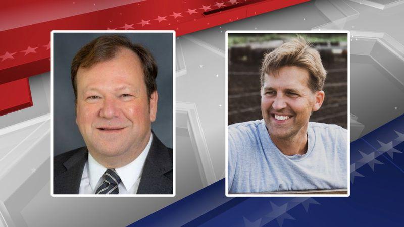 Democratic challenger Chris Janicek, left, will take on Republican Sen. Ben Sasse in a...