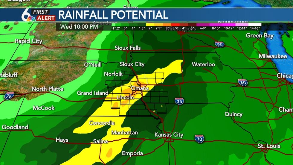 Rain potential next week