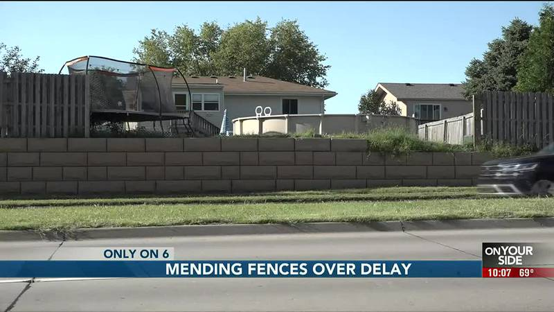 Fence still not fixed after storm