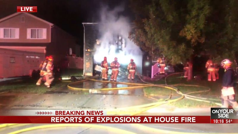 A large emergency response is underway at a house fire and possible explosion near N 168th...