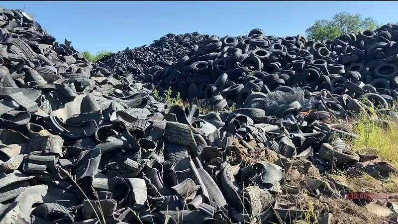 A massive pile of tires in Alvo, Nebraska is now in compliance, according the state.