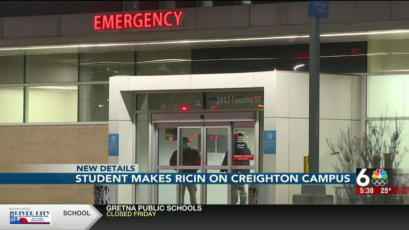 Creighton student makes ricin on campus