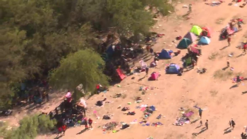 Thousands of migrants are living in squalor under a bridge in Texas.