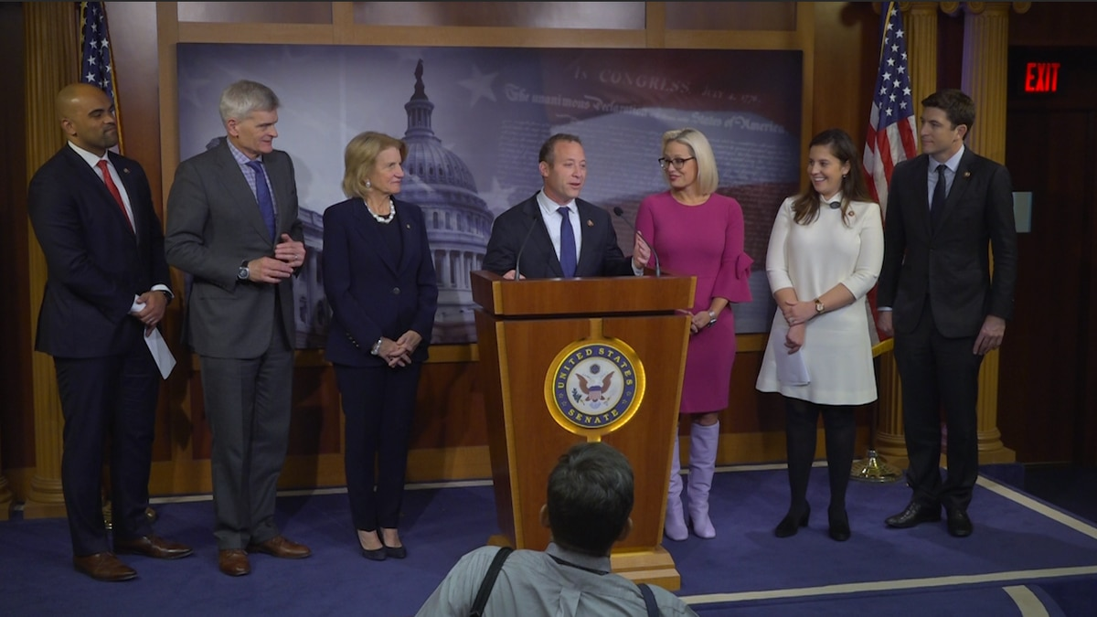 Republican and Democratic lawmakers stand together introducing a proposal to help new parents in the first critical year.  They announced a new piece of legislation in the Capitol on Wednesday.  (Source: Gray DC)