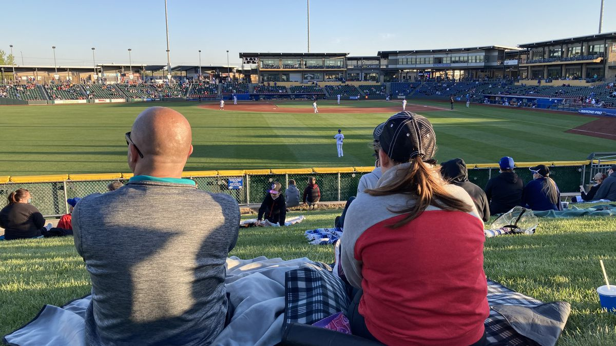 Fans enjoy a Storm Chasers game at Werner Park.