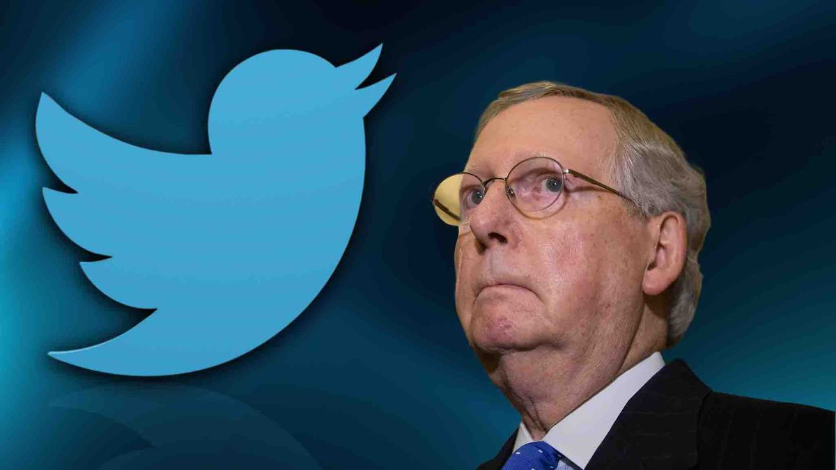 Senator Mitch McConnell's campaign account was locked Wednesday night after a video of protests outside his home. (Source: AP Graphics)