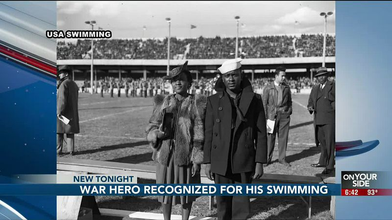 War hero recognized for his swimming - 6:30 pm