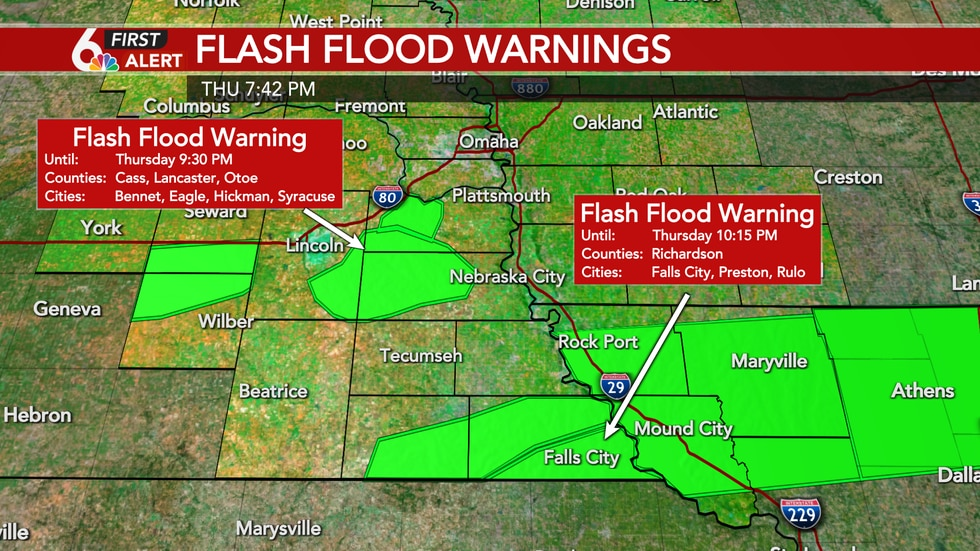 Flash Flood Warnings this evening