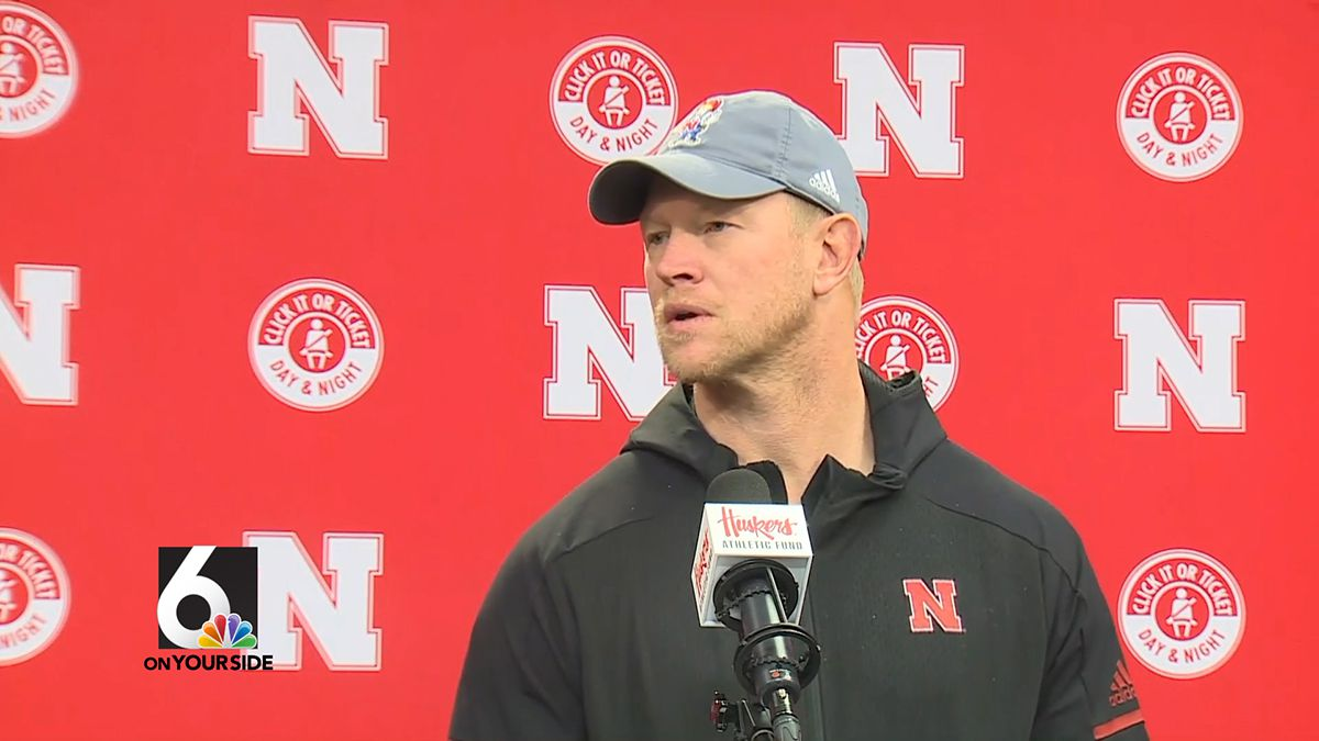 Nebraska Football Coach Scott Frost talks about the team's preparations for Iowa — the Huskers' last game of the season — on Friday. (WOWT)
