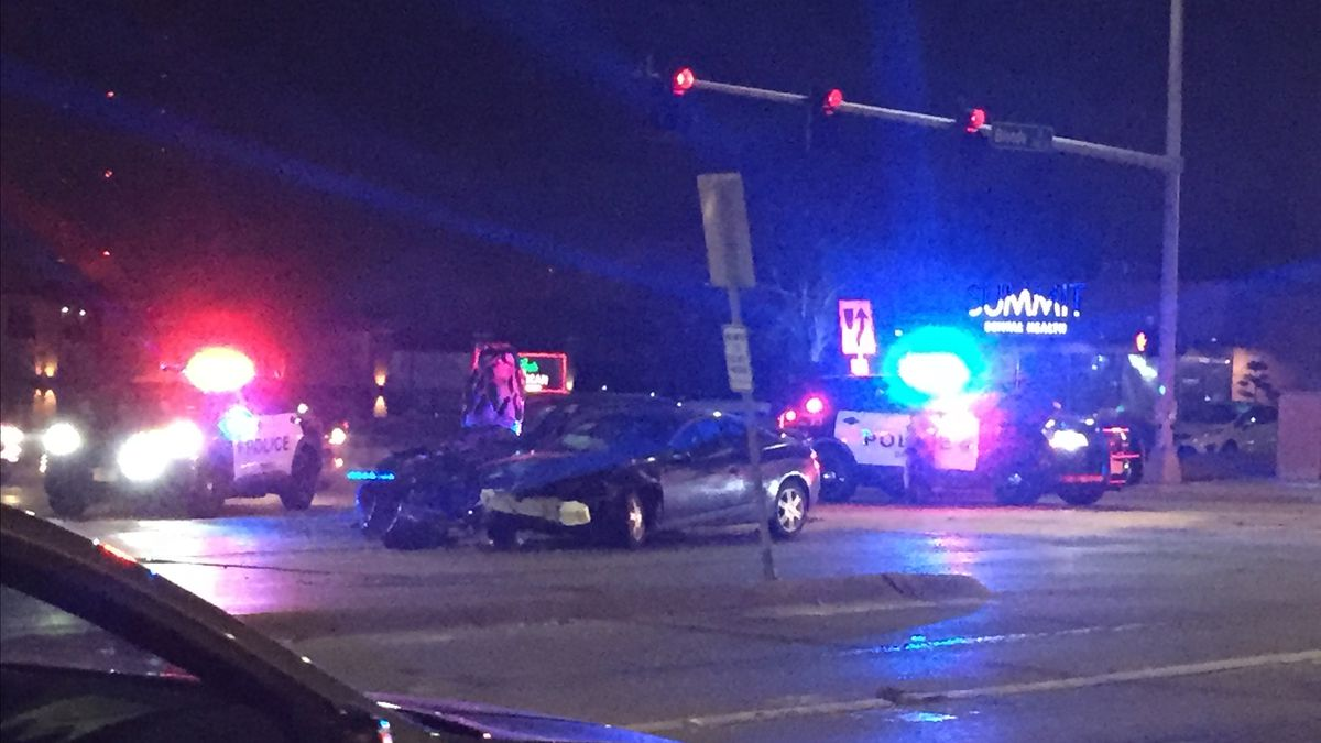 First responders were at the scene of a car accident near 90th and Blondo Wednesday morning.