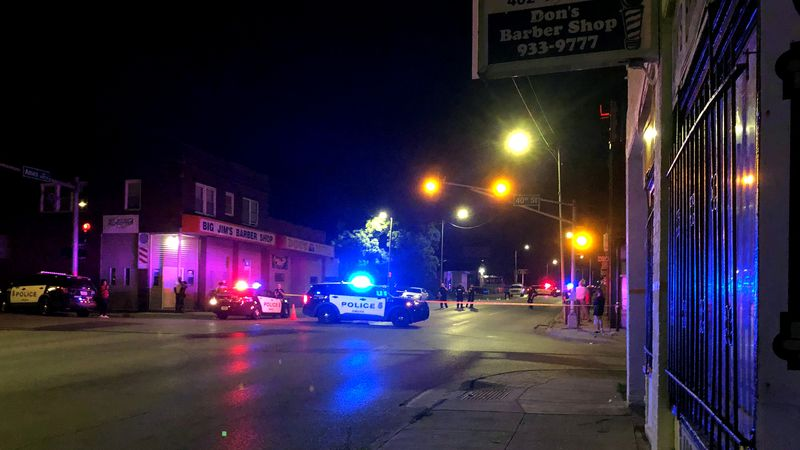 A man was killed and two women hurt in a shooting early Wednesday morning, June 16, 2021, in...