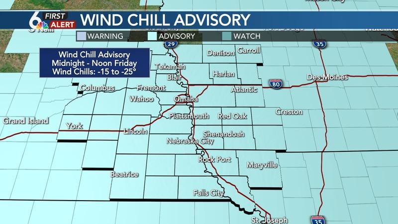 Wind Chill Advisory Friday Morning