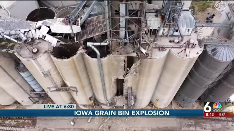 Iowa grain bin explosion - 6:30 pm