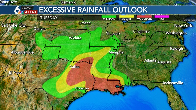 Excessive rainfall outlook for Tuesday