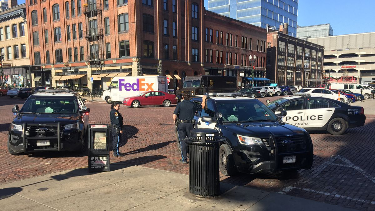 A suspect was subdued by police after causing a disturbance at a downtown bank Friday.